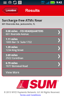 SUM ATM Locator- screenshot thumbnail