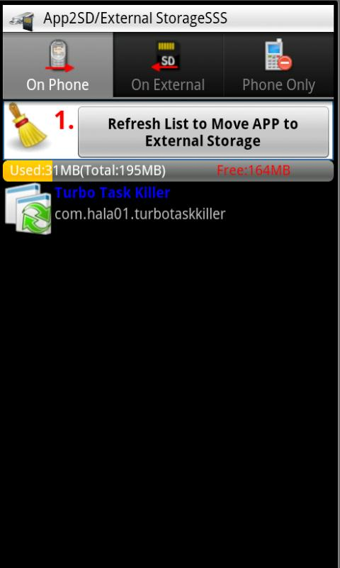 APP to SD/External (APP2SD) - screenshot