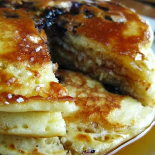 Easy Blueberry Pancakes.