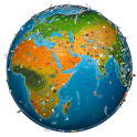 world map atlas 2018 icon