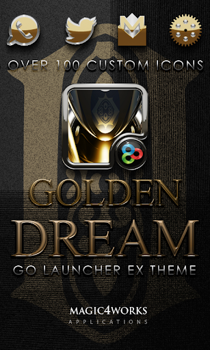 GO Launcher Theme Golden Dream