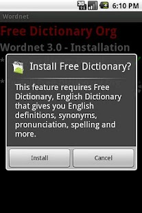 Wordnet - Free Dictionary Org - screenshot thumbnail