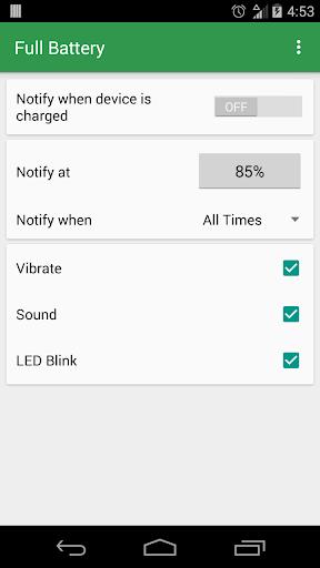 Full Battery: Notification
