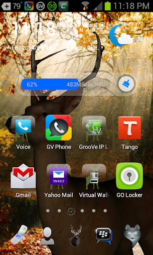 3D Autum Go Launcher Theme