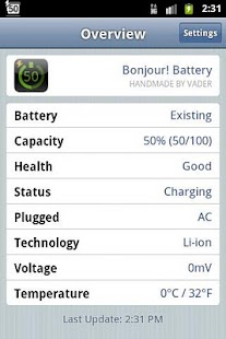Bonjour! Battery (Lite) - screenshot thumbnail