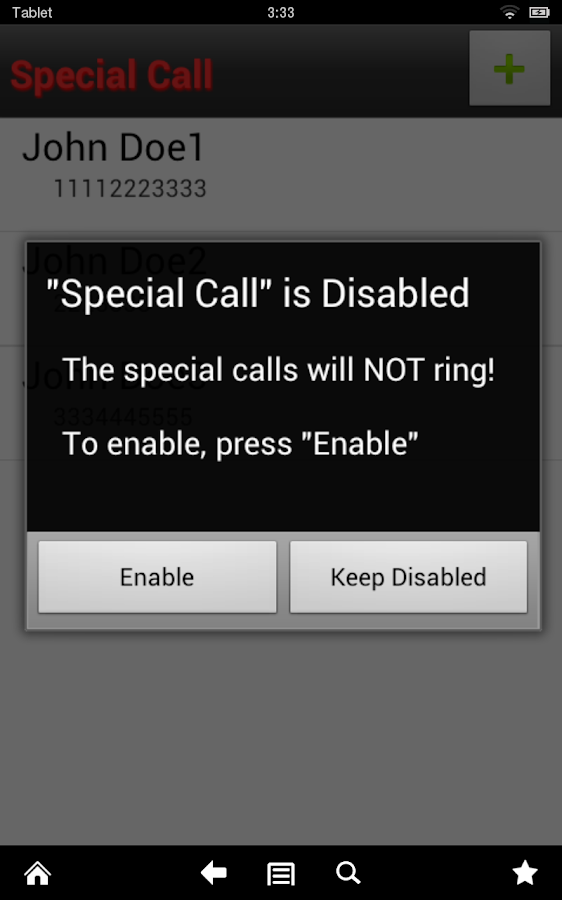 Special Call- screenshot
