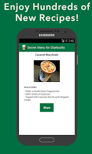 Secret Menu for Starbucks- screenshot thumbnail