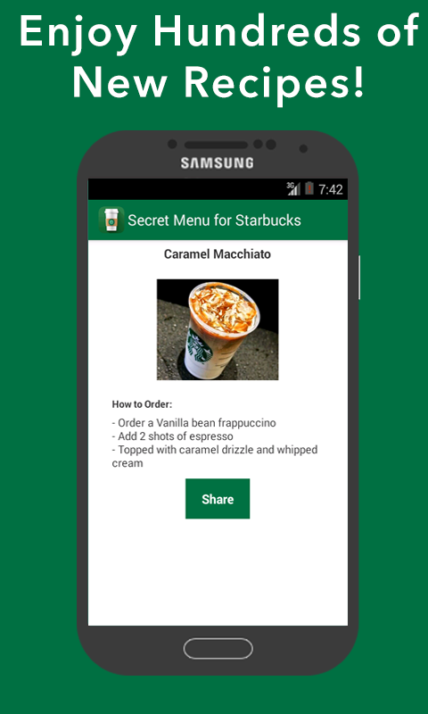 Secret Menu for Starbucks- screenshot