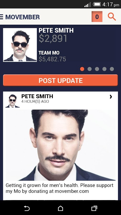 Movember Mobile - screenshot
