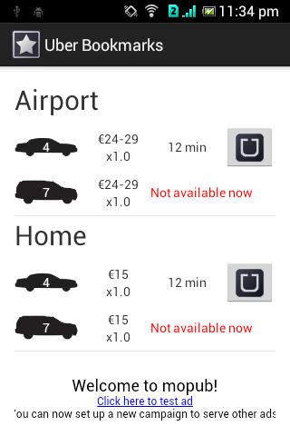 Bookmarks for Uber