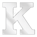 Diamond letter K sticker logo
