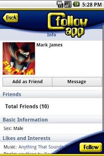 Follow App For Facebook