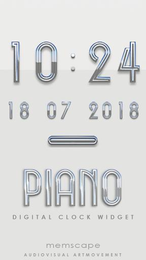 PIANO Digital Clock Widget