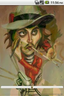 Johnny Depp Caricature LWP - screenshot thumbnail