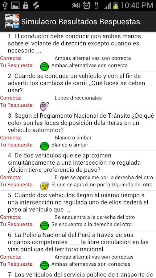 Examen Reglas Touring - screenshot