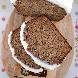 Chai Banana Bread with Cream Cheese Frosting.