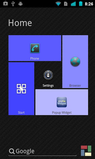 Blue theme for SquareHome