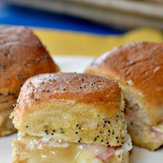 Hot Ham Cheese Sliders