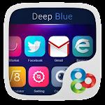 Deep Blue GO Launcher Theme v1.0