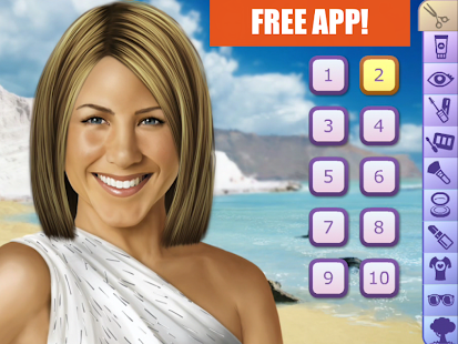 Jennifer Aniston Make Up Game - screenshot thumbnail