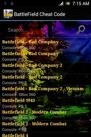 Cheat for Battlefield - screenshot