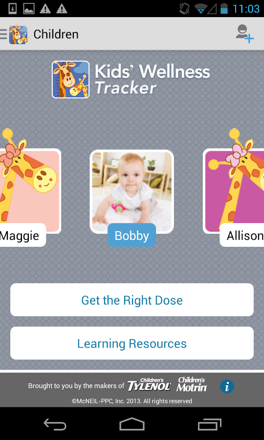 Kids' Wellness Tracker- screenshot