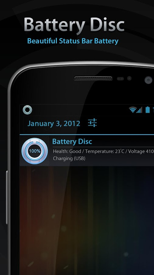 Beautiful Battery Disc White - screenshot