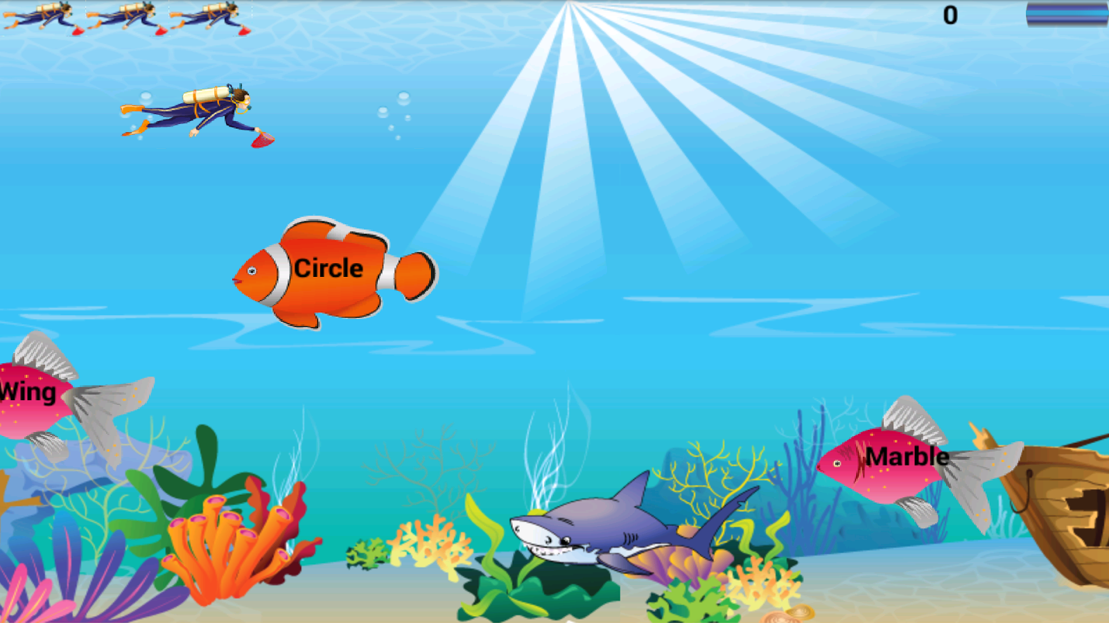 Fish cartoons for toddlers for Fish and game