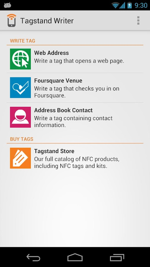 NFC Writer by Tagstand- screenshot