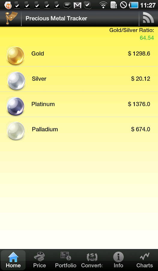 Gold & Silver Price Tracker - screenshot