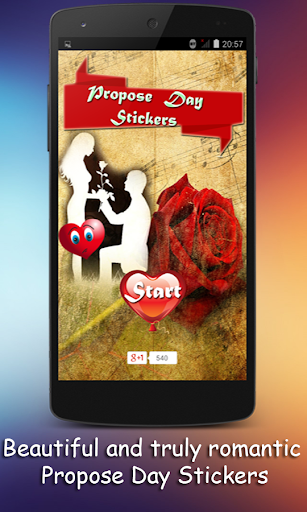 Love Stickers for Propose Day