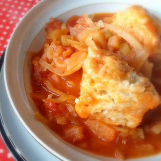 Vegetable Stew with Cheese Puff Dumplings