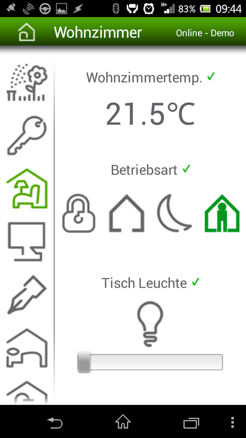 Merten InSideControl – Screenshot