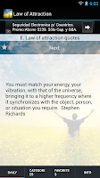 Screenshot of Law of Attraction Quotes &Tips