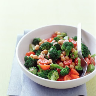 Broccoli, Chickpea, and Cherry Tomato Salad