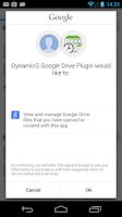 Screenshot of DynamicG Google Drive Plugin