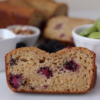 Healthy Blackberry Coconut Yogurt Bread