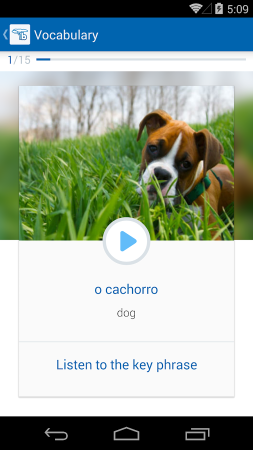 Learn Portuguese with busuu - screenshot