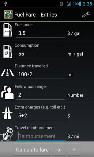 【免費交通運輸App】Fuel Fare (ad-free)-APP點子