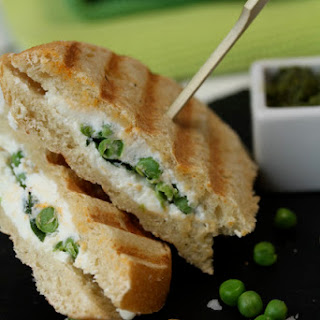 Feta, Peas, and Mint Pesto Country Sandwich.