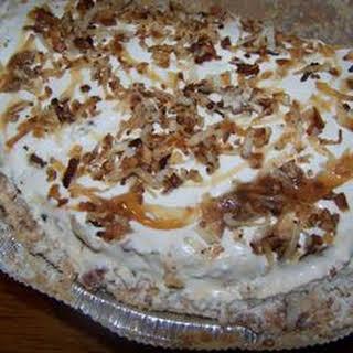 Frozen Coconut Caramel Pie.