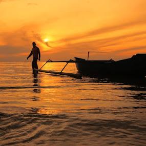 Silhoutte  by Chairul . - Landscapes Sunsets & Sunrises