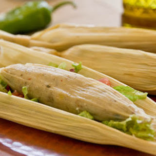 Corn, Mushroom and Green Chile Tamales.