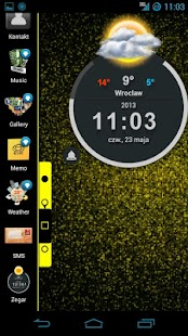 TSF Shell Theme HoloYellowFree - screenshot thumbnail
