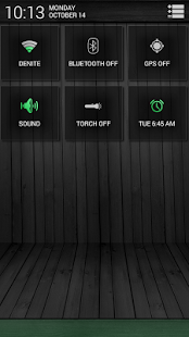 Black Wood Green CM11 Theme - screenshot thumbnail