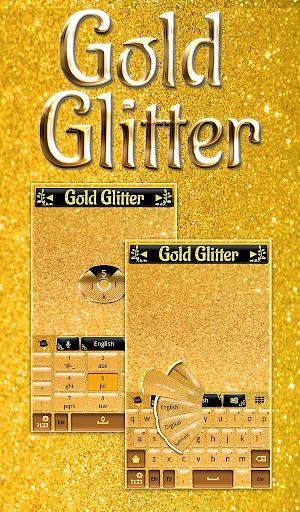 ゴールドグリッターキーボード