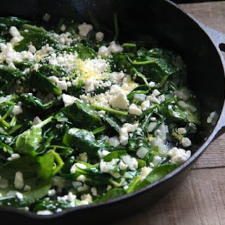 Spinach with Feta & Lemon