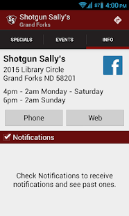 Shotgun Sally's - Grand Forks - screenshot thumbnail