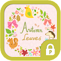 Autumn leaves wreath protector icon