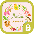 Autumn leaves wreath protector icon